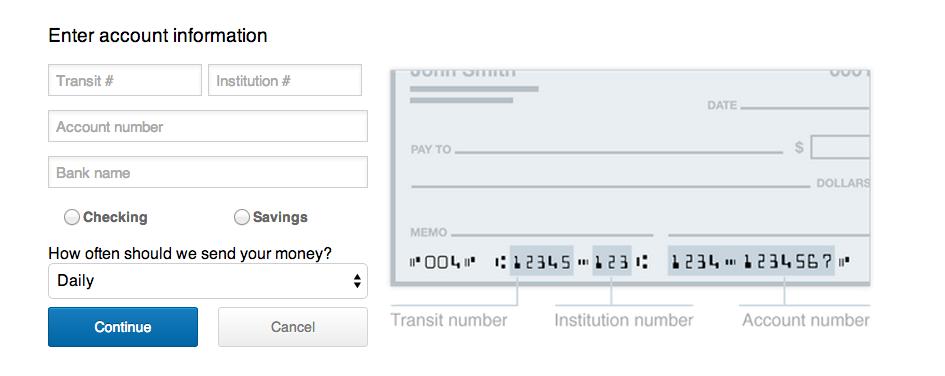 Canadian Bank Accounts